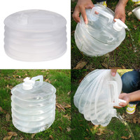 Hot 10L Outdoor Camping Foldable Water Bucket Hiking Fishing Picnic Applicable Water Bottle Container Collapsible Water Bucket