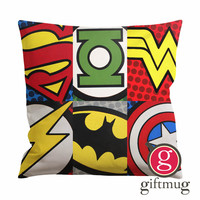 Superhero Logo Cushion Case / Pillow Case