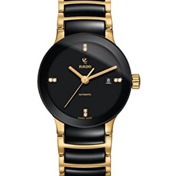 Rado Sintra Automatic Black Dial Black Ceramic Mens Watch R30034712