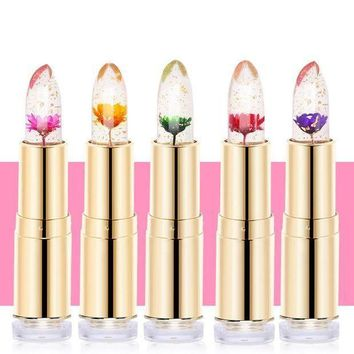 Learnever Jelly Flower Lipstick Magic Color Changing Long Lasting Moisturizing Lip Gloss M02560