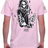 The Death Over Disloyalty Tee in Pink