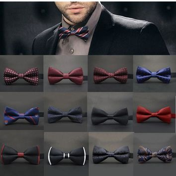 12colors Ties Bow Papillon for Men Suits Fastening Hook
