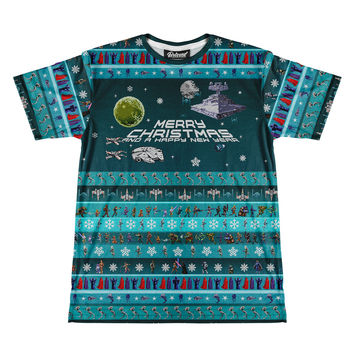 War O' Stars Christmas Men's Tee