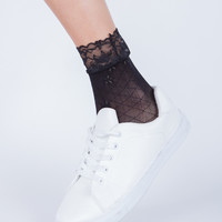 Floral Lacey Socks
