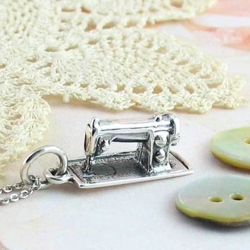 Old-Fashioned Sewing Machine Necklace