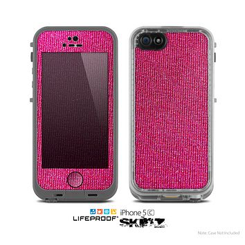 The Pink Fabric Skin for the Apple iPhone 5c LifeProof Case