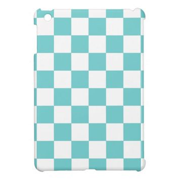 Teal Sky Checkerboard Case For The iPad Mini