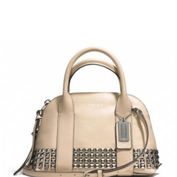 Coach Mini Bleecker Preston Satchel in Studded Leather