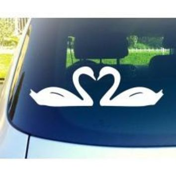 Swans Love Car Window Vinyl Decal Tablet PC Sticker