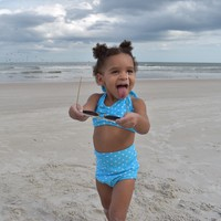 Toddlers Baby Blue Dots Swimsuit