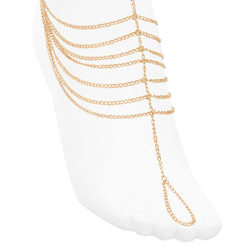 Accessories : Gold Tone House of CB Foot Chain
