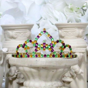 Mardi Gras - Princess Hair Accessories - New Orleans - Glitter Sparkle - Princess Gifts - Girls Hair Accessories - Dress Up Girls - Gifts