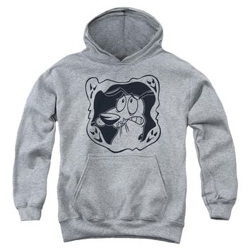 Courage The Cowardly Dog - Ghost Frame Youth Pull Over Hoodie