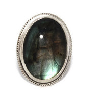 925 Sterling Silver Ring Labradorite Ring Tribal Ring Boho Ring Gypsy Ring