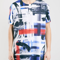 Rothko Check Oversized Fit T-Shirt - Men's Tops - Clothing