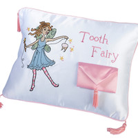 Tooth Fairy Pillow with Pink Pocket