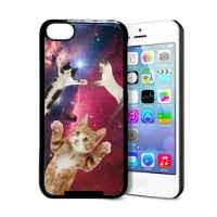 Hipster Flying Space Cats iPhone 5c Case - Fits iPhone 5c
