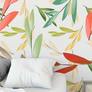 Leaves of Color Wall Mural Pattern