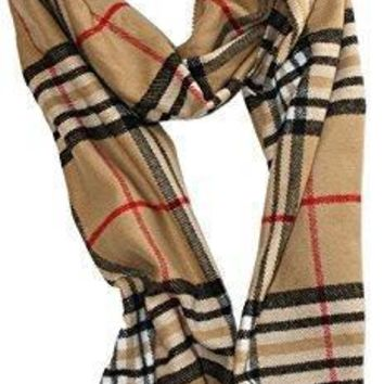 Soft Plaid Check Winter Scarf Warm Oblong 12¡±x72¡± Fringe Unisex