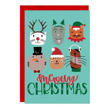 Meowy Christmas Greeting Card Boxed Set