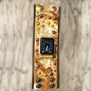 The Rockstar Apple Watch Band in Melted Gold