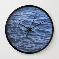 Wet Wall Clock by Kelly Brown   Society6
