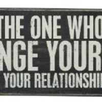 """Primitives by Kathy Box Sign """"FIND THE ONE WHO WILL CHANGE YOUR LIFE"""""""
