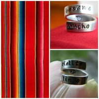besame mucho-cielito llindo mexican folklor inspired rings choose one
