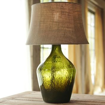 Clift Glass Table Lamp Base - Green