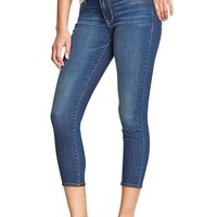 Old Navy Womens Mid Rise Rockstar Skinny Cropped Jeans