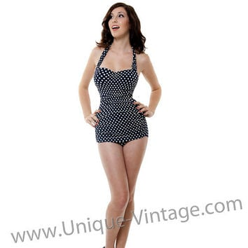Vintage inspired swimsuit 50 39 s style pin from unique vintage for Pin up inspired wedding dresses