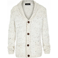 River Island Boys stone button down cardigan