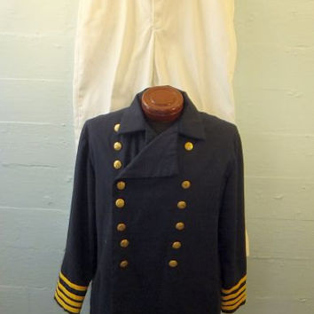 Vintage WWI Reenactment Navy Uniform / Naval / Marine Corp / Halloween Costume / USN