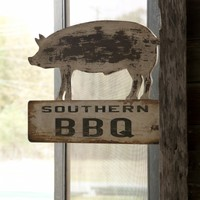 Southern BBQ Wood Wall Plaque
