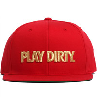 Play Dirty Snapback Hat Red