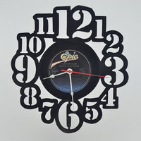 Unique Handmade Vinyl Record Wall Clock (artist is Culture Club)