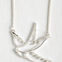 Critters Swooping Swallow Necklace by ModCloth