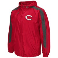 Cincinnati Reds Hooded Track Jacket