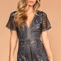Limelight Charcoal Romper