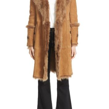 Burberry 'Northcole' Genuine Shearling Coat | Nordstrom