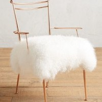 Shag Puff Dressing Chair by Anthropologie