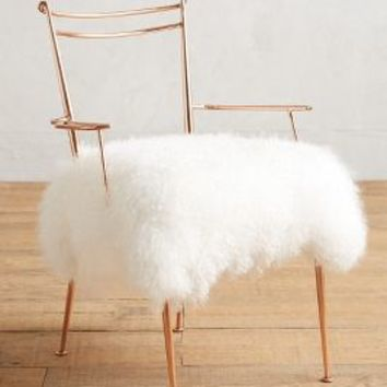 Charmant Shag Puff Dressing Chair By Anthropologie