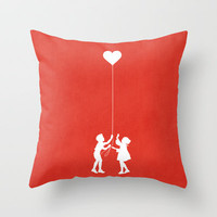 Love Balloon Throw Pillow by Budi Satria Kwan
