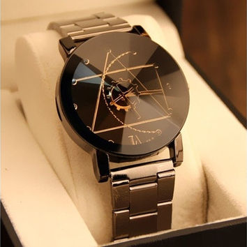 Relojes de los hombres Fashion Watch Stainless Steel Man Quartz Analog Wrist Watch [8833610828]