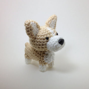 Welsh Corgi Crochet Dog Amigurumi Dog Stuffed Animal / Made to Order