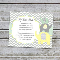 Baby Shower Games My Waters Broke Game Baby Shower Sign Printable Instant Download (88MWB)