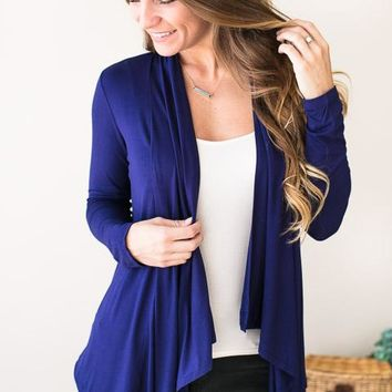 Fly Away Royal Blue Cardigan