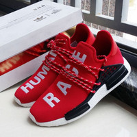 """Adidas"" NMD Human Race Black Leisure Running Sports Shoes red"