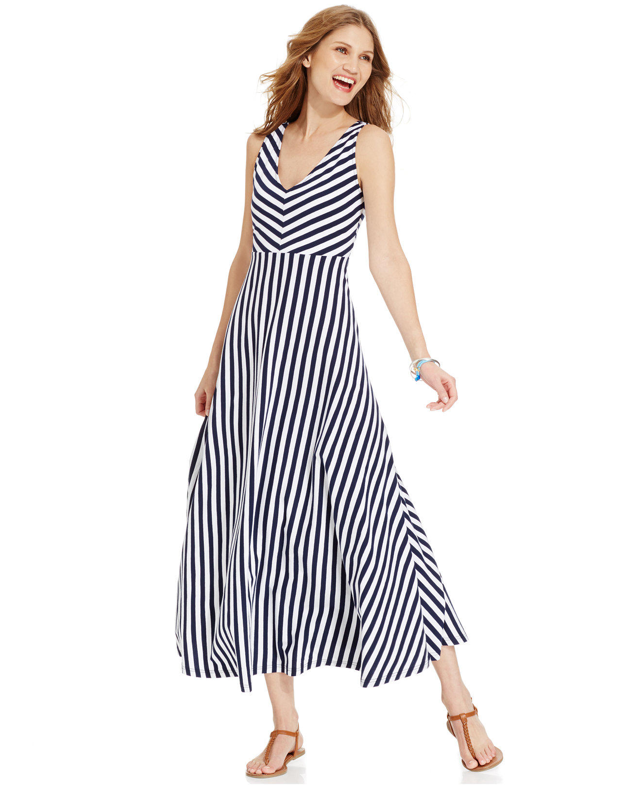 American Living Striped Maxi Dress From Macys Dresses
