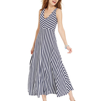 American Living Striped Maxi Dress